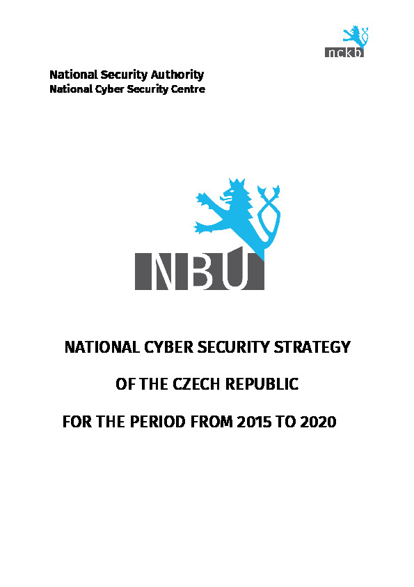 Czech Republic National Security Authority National Cyber