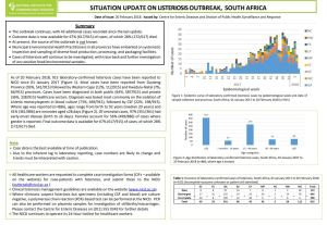 Latest @nicd_sa situation update on the #listeria outbreak in #SouthAfrica: https://t.co/OhIeRx49kn https://t.co/PcWC5VL50g