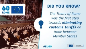 Customs Union was one the key elements proposed by the #TreatyofRome #EU60 https://t.co/pu9BbrJNby