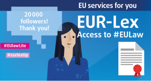 Interested in #EUlaw? Join the @eurlex community of now over 20,000 followers! https://t.co/2nJwvncEbb #legaltech https://t.co/IYVk4kyqsZ