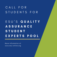 Call for students for @ESUtwt Quality Assurance Student Experts Pool, Deadline 24 June https://t.co/LZ09Rtxj13 #QA https://t.co/tZ1e11cALd