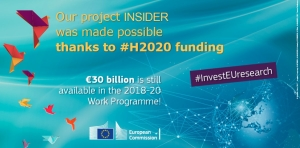 Our project (@InsiderH2020) was made possible thanks to #H2020 #InvestEUresearch! https://t.co/WyKOiiMNeJ