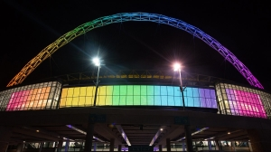 To mark the start of @LGBTHM, we're turning the @wembleystadium rainbow tonight. https://t.co/pCtGDQPYZI