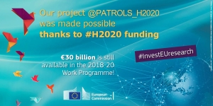 Our project, @PATROLS_H2020, was made possible thanks to #H2020 #InvestEUresearch! https://t.co/BIwB84xgyt