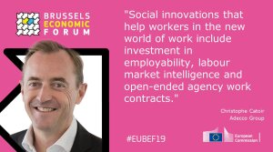 .@chcatoir of @AdeccoGroup speaking on a new social contract at #EUBEF19 https://t.co/dhopvWyVmw