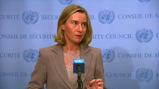 Mogherini speaks to the press after EU3/E3+ and Iran Ministerial Meeting on JCPOA