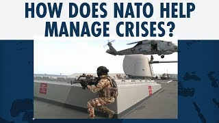 How does NATO help manage crises?