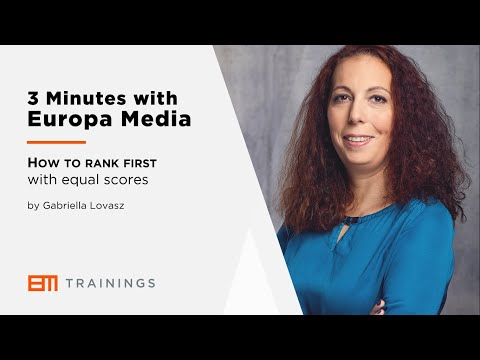 3 Minutes with Europa Media - How to rank first with equal scores