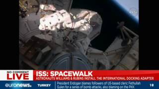 [LIVE] ISS spacewalk: Atronauts install international docking adapter
