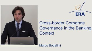 Cross-border Corporate Governance in the Banking Context