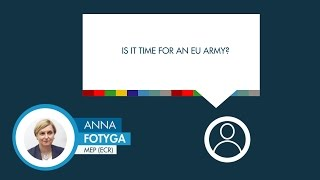 Anna Fotyga answers a question on EU security
