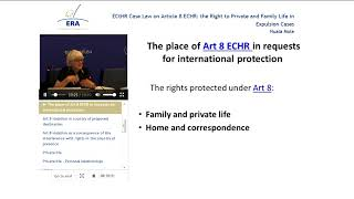 ECtHR Case Law on Article 8 ECHR: the Right to Private and Family Life in Expulsion Cases