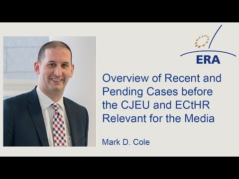 Overview of Recent and Pending Cases before the CJEU and ECtHR Relevant for the Media