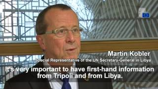 EU Foreign Affairs Ministers meet to discuss the situation in Libya