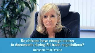 Emily O'Reilly answers Davide on citizens & EU trade negotiations