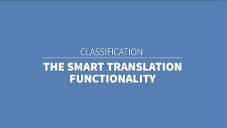 TMClass - The smart translation functionality