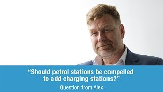 Greg Archer answers a question from Alex on petrol stations