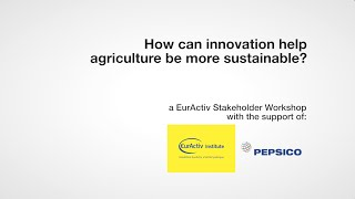 How can innovation help agriculture be more sustainable?