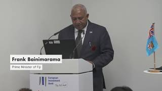 Prime Minister Bainimarama on the EIB's lasting commitment to climate action