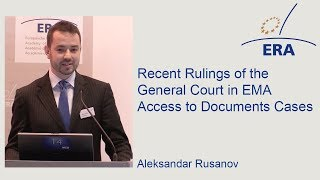 Recent Rulings of the General Court in EMA Access to Documents Cases