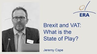 Brexit and VAT: What is the State of Play?