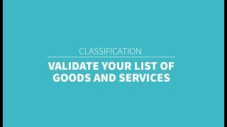 TMClass - Validate your list of G&S