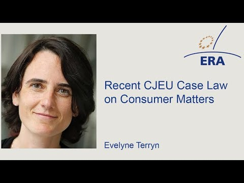 Recent CJEU Case Law on Consumer Matters