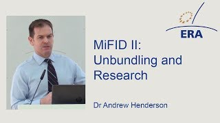 MiFID II: Unbundling and Research