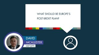 David McAllister responds to a question on the EU's post-Brexit plan