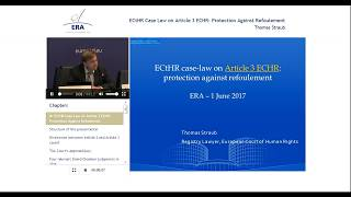 ECtHR Case Law on Article 3 ECHR: Protection Against Refoulement