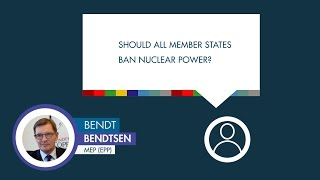 Bendt Bendtsen answers a question on nuclear power