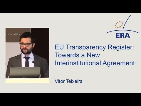 EU Transparency Register: Towards a New Interinstitutional Agreement