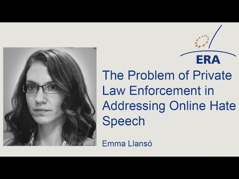 The Problem of Private Law Enforcement in Addressing Online Hate Speech