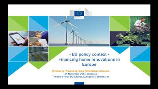 SEI Forum – Webinar n°3: Financing Home Renovation in Europe