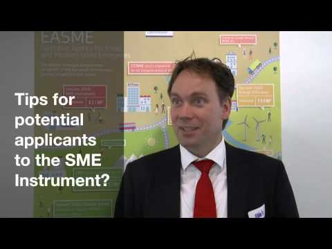 SME Instrument views and tips from the expert Erik Vermeulen
