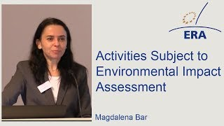 Activities Subject to Environmental Impact Assessment
