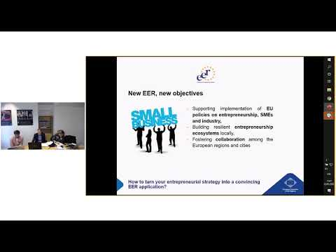 Webinar: 2021 edition of the European Entrepreneurial Region (EER) Award