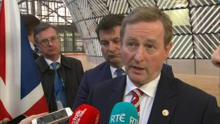 #EUCO: Enda Kenny says the Brexit bill will be determined by Barnier