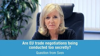 Emily O'Reilly answers Sven on EU trade negotiations