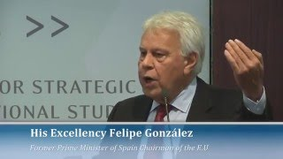European Union's security threats: lecture by Prime Minister Gonzalez