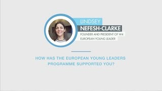 Lindsey Nefesh-Clarke answers a question on the European Young Leaders programme