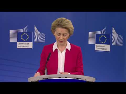 Press conference following the EU Leaders' video conference on COVID-19