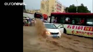 Torrential rainstorm ravages China