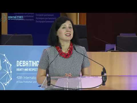40th International Conference of Data Protection and Privacy Commissioners - Vera Jourova